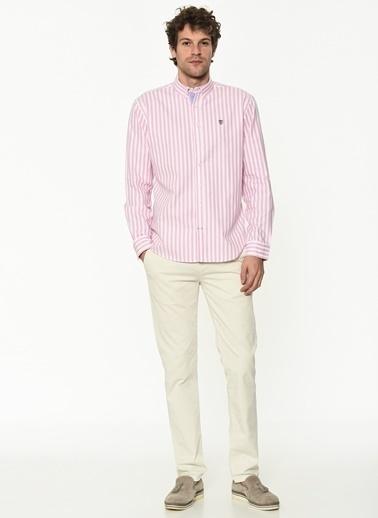 George Hogg George Hogg Uzun Kollu Regular Fit Erkek Pamuk Gömlek Pembe